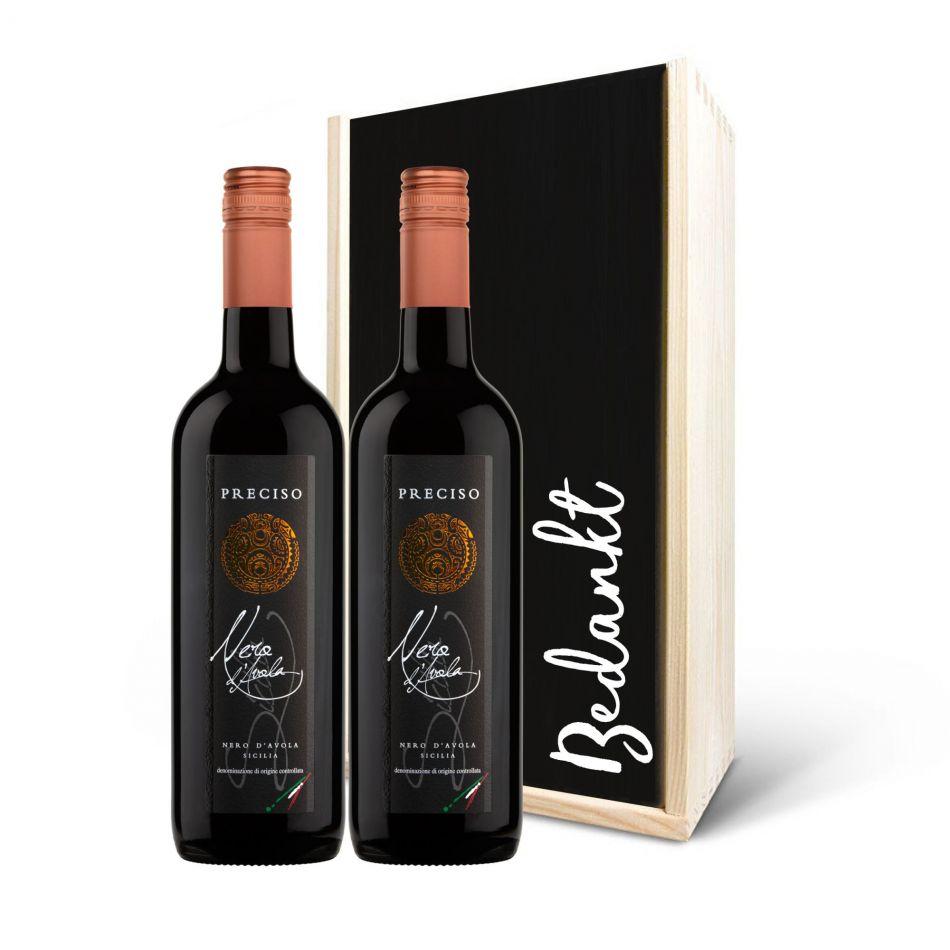 Wijnpakket Nero d'Avola rood, 2 fles  BIO/VEGAN